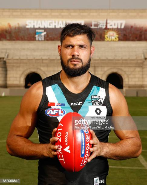 Paddy Ryder of the Power poses for a photograph during the Port Adelaide Power training session at Jiangwan Stadium on May 11 2017 in Shanghai China