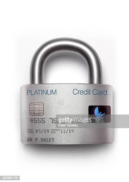 Padlock credit card