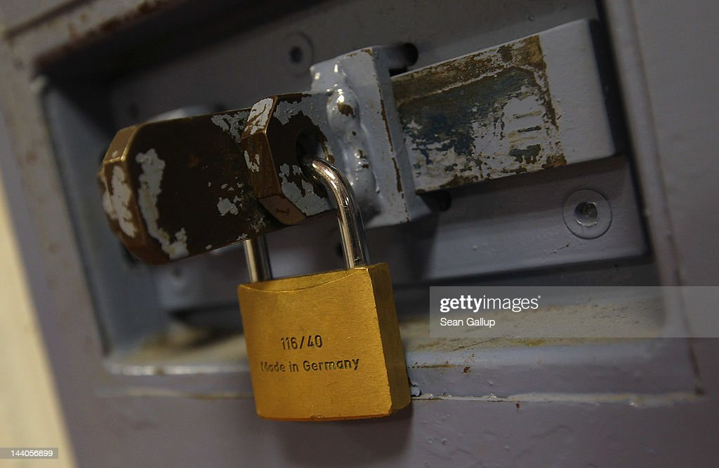 A padlock hangs from a cell door at the expanded youth arrest facility in Lichtenrade district on May 9, 2012 in Berlin, Germany. The facility, whose capacity is now nearly doubled, accomodates young men and women first-time offenders for short periods of time with the intent of giving them an impression of what prison is like yet to also give them a second chance at returning to freedom.
