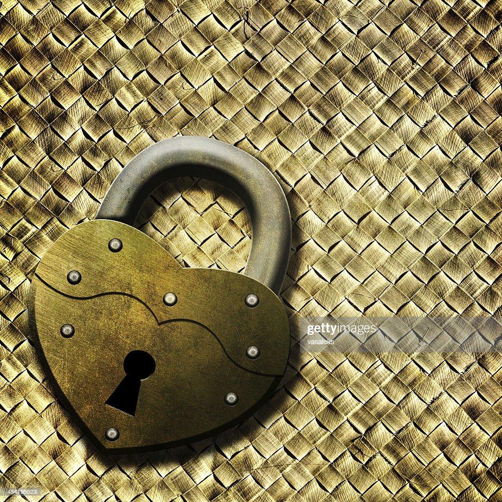 Cadeado Coração : Foto de stock