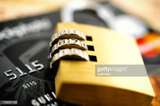 Padlock on a credit card