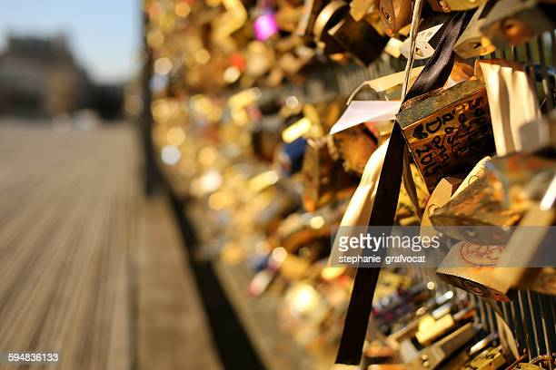 Padlocks on a bridge, Paris, France