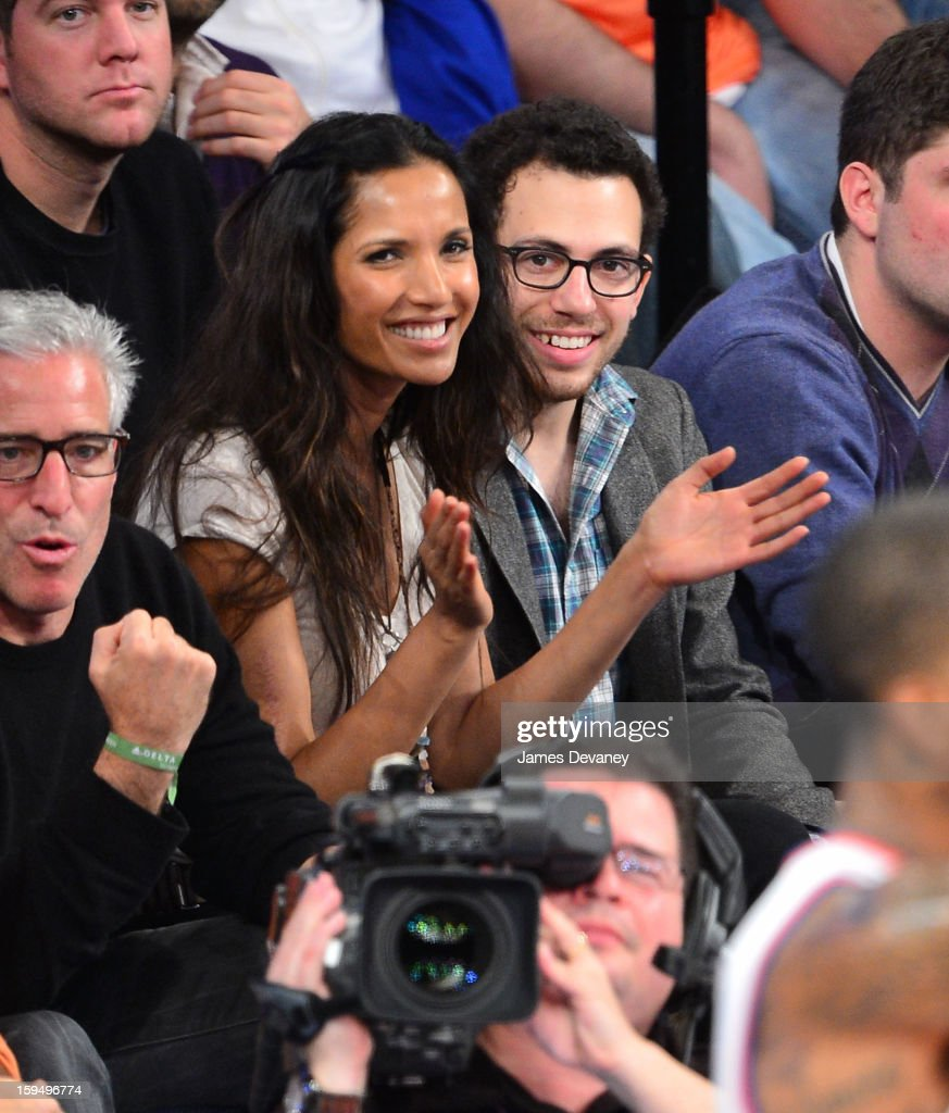 Padma Lakshimi attends the New Orleans Hornets vs New York Knicks game at Madison Square Garden on January 13, 2013 in New York City.