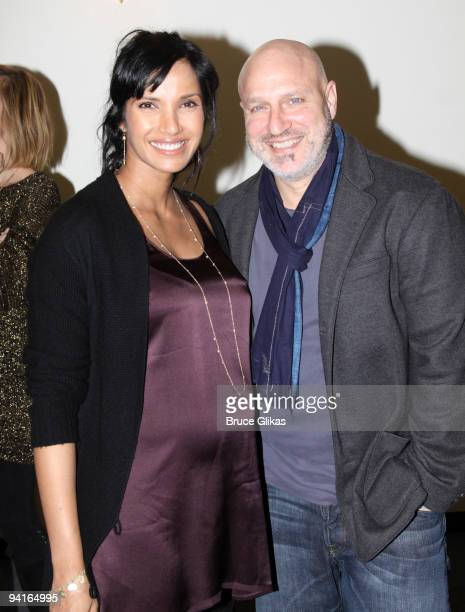 COVERAGE*** Padma Lakshm and Tom Coliccho pose backstage at LAByrinth Theater Company's 6th Annual Gala Benefit at St Paul The Apostle Church on...