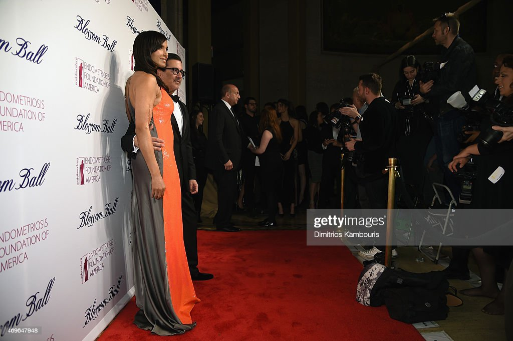 Padma Lakshmi and designer Isaac Franco attend the 7th Annual Blossom Ball Benefiting The Endometriosis Foundation Of America Hosted By EFA Founders...