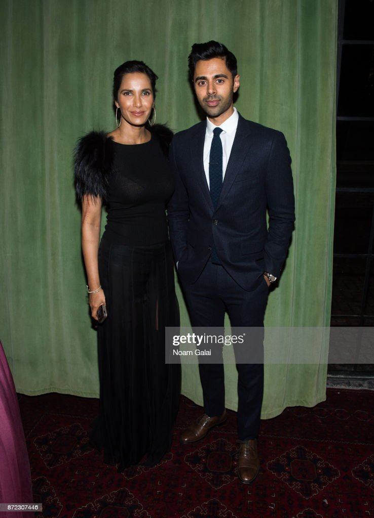 Padma Lakshmi and Hasan Minhaj attend Shanti Bhavan's 20th Anniversary Gala on November 9, 2017 in New York City.