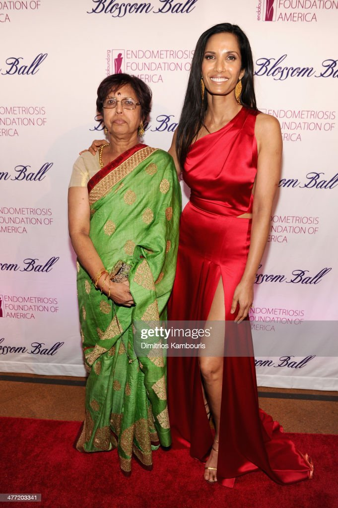 <a gi-track='captionPersonalityLinkClicked' href=/galleries/search?phrase=Padma+Lakshmi&family=editorial&specificpeople=201593 ng-click='$event.stopPropagation()'>Padma Lakshmi</a> (R) and mother Vijaya Lakshmi attend the Endometriosis Foundation of America's 6th annual Blossom Ball hosted by <a gi-track='captionPersonalityLinkClicked' href=/galleries/search?phrase=Padma+Lakshmi&family=editorial&specificpeople=201593 ng-click='$event.stopPropagation()'>Padma Lakshmi</a> and Tamer Seckin, MD at 583 Park Avenue on March 7, 2014 in New York City.