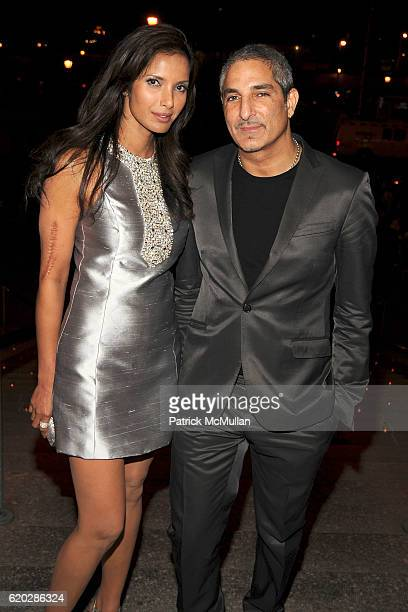 Padma Lakshmi and Nur Khan attend VANITY FAIR Tribeca Film Festival Party hosted by GRAYDON CARTER ROBERT DE NIRO and RONALD PERELMAN at The State...