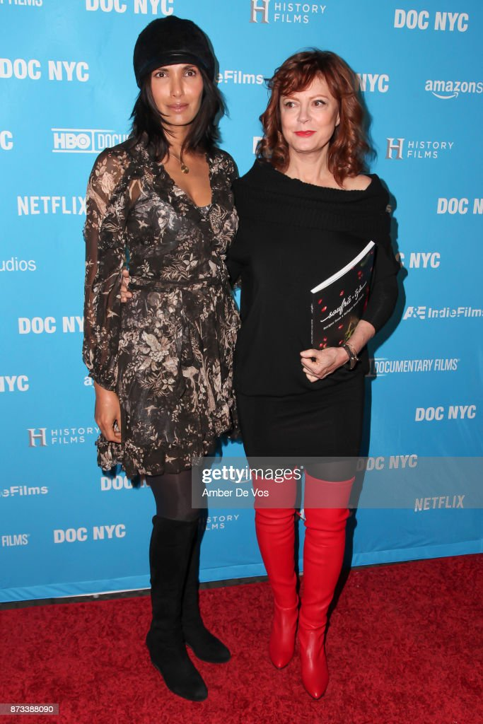 Padma Lakshmi and Susan Sarandon attend the North American Premiere of 'Soufra' presented by Rebelhouse Group the on November 12, 2017 in New York City.