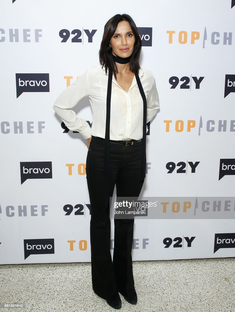 Padma Lakshmi and The Judges of Bravo's 'Top Chef' In conversation at 92nd Street Y on November 28, 2017 in New York City.