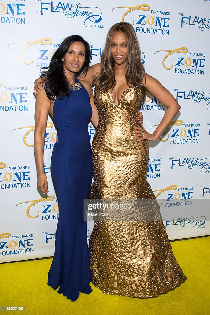 <a gi-track='captionPersonalityLinkClicked' href=/galleries/search?phrase=Padma+Lakshmi&family=editorial&specificpeople=201593 ng-click='$event.stopPropagation()'>Padma Lakshmi</a> and <a gi-track='captionPersonalityLinkClicked' href=/galleries/search?phrase=Tyra+Banks&family=editorial&specificpeople=202216 ng-click='$event.stopPropagation()'>Tyra Banks</a> attend <a gi-track='captionPersonalityLinkClicked' href=/galleries/search?phrase=Tyra+Banks&family=editorial&specificpeople=202216 ng-click='$event.stopPropagation()'>Tyra Banks</a>' Flawsome Ball 2014 at Cipriani Wall Street on May 6, 2014 in New York City.