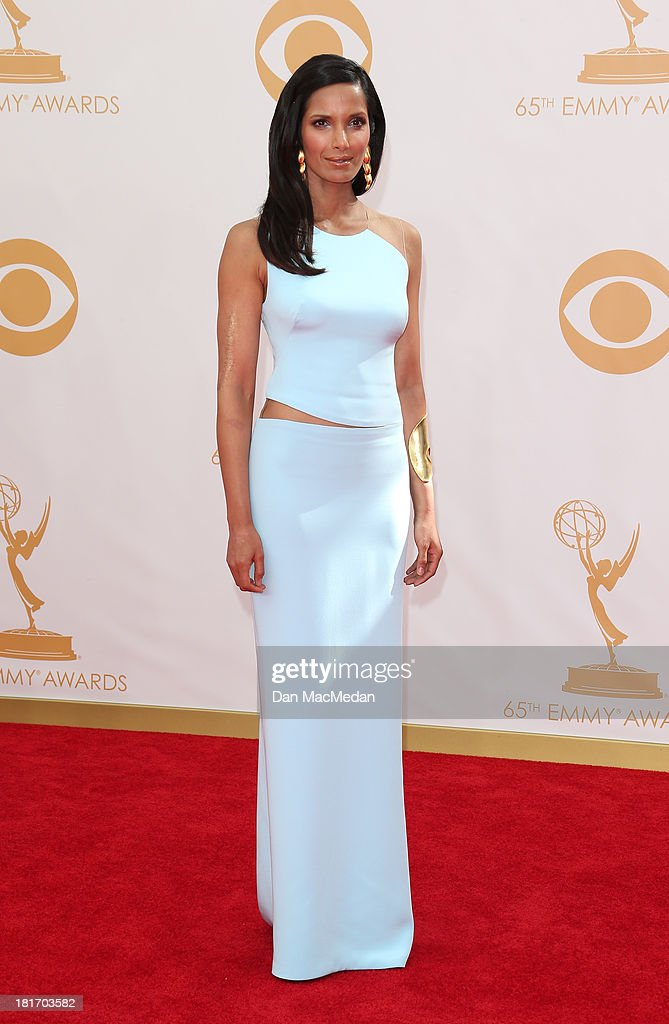 Padma Lakshmi arrives at the 65th Annual Primetime Emmy Awards at Nokia Theatre L.A. Live on September 22, 2013 in Los Angeles, California.