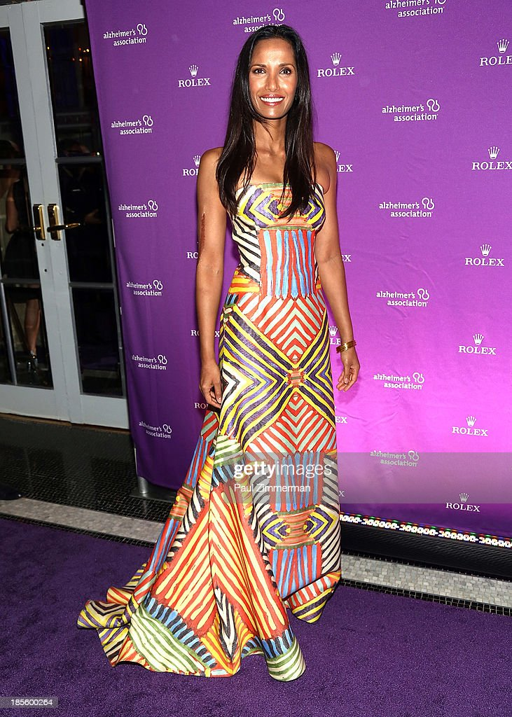 <a gi-track='captionPersonalityLinkClicked' href=/galleries/search?phrase=Padma+Lakshmi&family=editorial&specificpeople=201593 ng-click='$event.stopPropagation()'>Padma Lakshmi</a> attends 2013 Alzheimer's Association Rita Hayworth 30th Anniversary gala at The Waldorf=Astoria on October 22, 2013 in New York City.