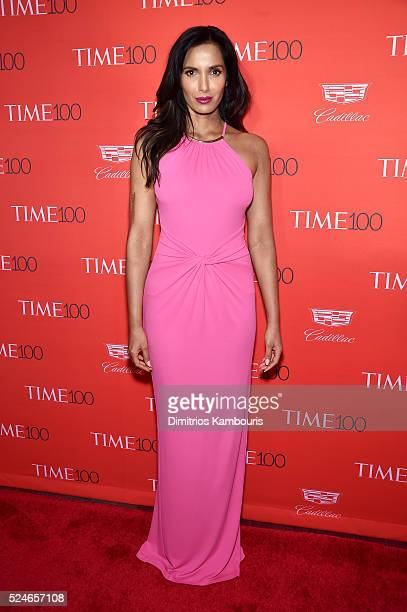 Padma Lakshmi attends 2016 Time 100 Gala Time's Most Influential People In The World red carpet at Jazz At Lincoln Center at the Times Warner Center...