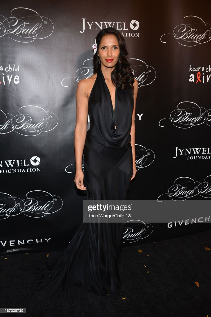 <a gi-track='captionPersonalityLinkClicked' href=/galleries/search?phrase=Padma+Lakshmi&family=editorial&specificpeople=201593 ng-click='$event.stopPropagation()'>Padma Lakshmi</a> attends Keep A Child Alive's 10th Annual Black Ball at Hammerstein Ballroom on November 7, 2013 in New York City.