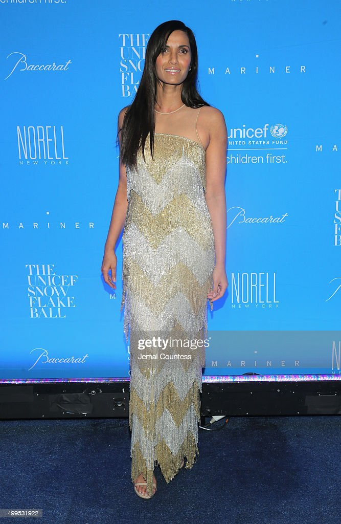 Padma Lakshmi attends the 11th Annual UNICEF Snowflake Ball Honoring Orlando Bloom, Mindy Grossman And Edward G. Lloyd at Cipriani, Wall Street on December 1, 2015 in New York City.