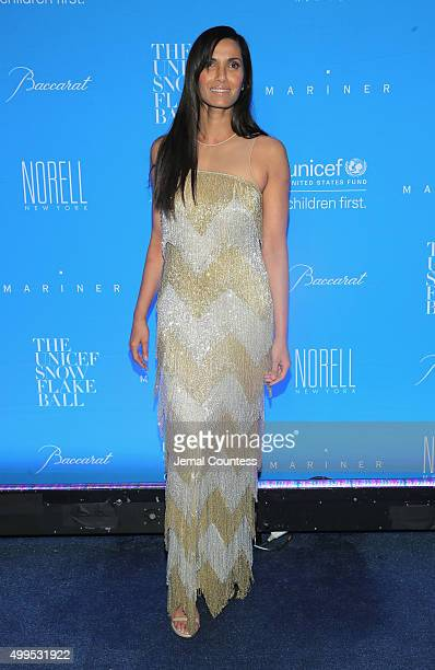 Padma Lakshmi attends the 11th Annual UNICEF Snowflake Ball Honoring Orlando Bloom Mindy Grossman And Edward G Lloyd at Cipriani Wall Street on...