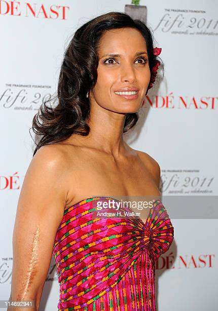 Padma Lakshmi attends the 2011 FiFi Awards at The Tent at Lincoln Center on May 25 2011 in New York City
