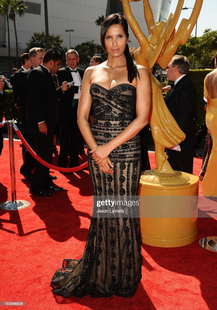 Padma Lakshmi attends the 2012 Primetime Creative Arts Emmy Awards at Nokia Theatre L.A. Live on September 15, 2012 in Los Angeles, California.