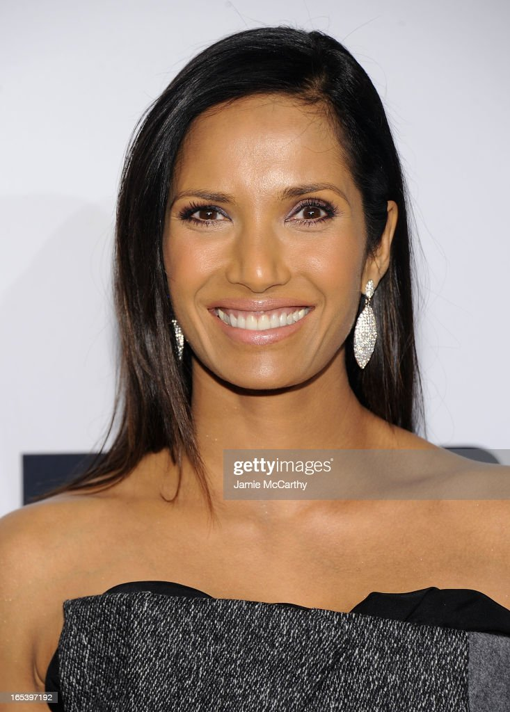 Padma Lakshmi attends the 2013 Bravo New York Upfront at Pillars 37 Studios on April 3, 2013 in New York City.