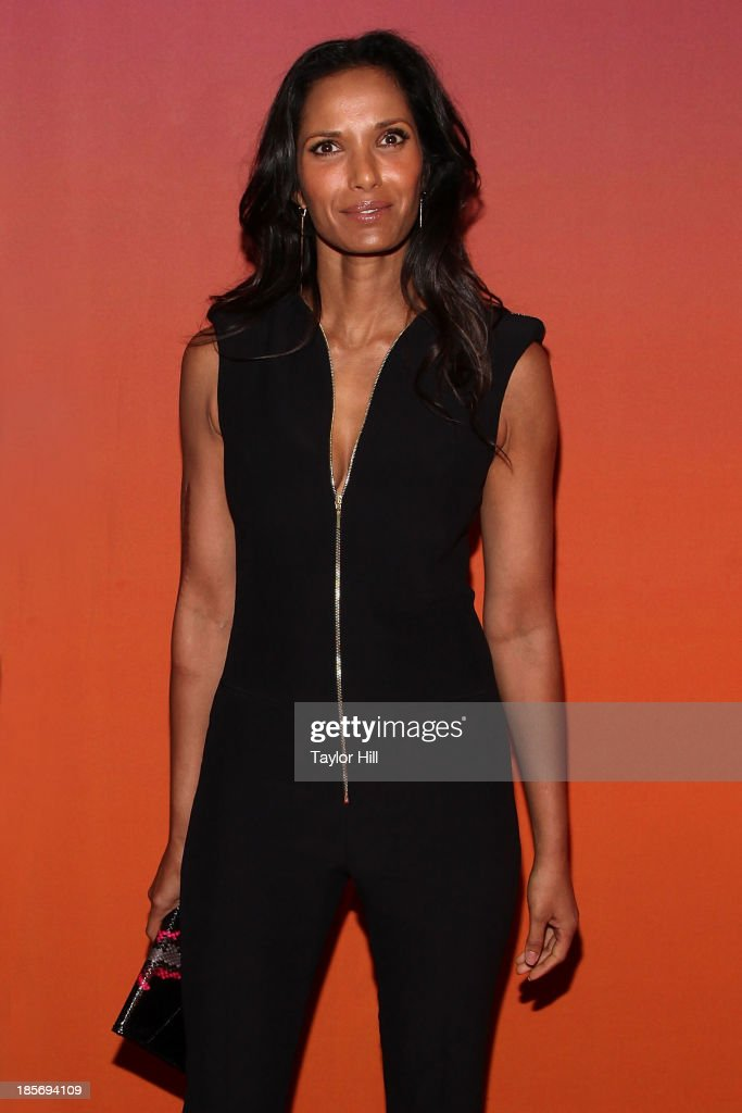 <a gi-track='captionPersonalityLinkClicked' href=/galleries/search?phrase=Padma+Lakshmi&family=editorial&specificpeople=201593 ng-click='$event.stopPropagation()'>Padma Lakshmi</a> attends the 2013 Whitney Gala and Studio party at Skylight at Moynihan Station on October 23, 2013 in New York City.