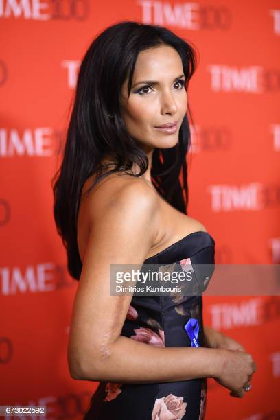 Padma Lakshmi attends the 2017 Time 100 Gala at Jazz at Lincoln Center on April 25 2017 in New York City