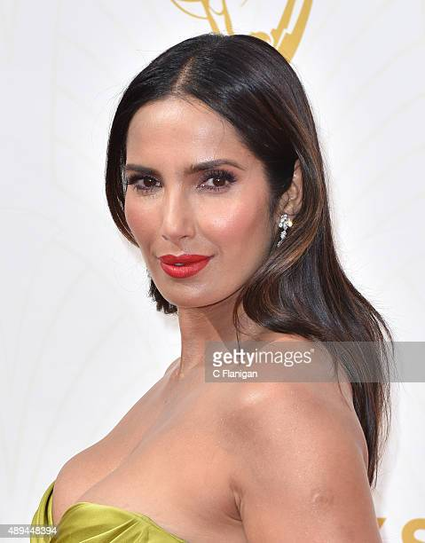 Padma Lakshmi attends the 67th Annual Primetime Emmy Awards at Microsoft Theater on September 20 2015 in Los Angeles California