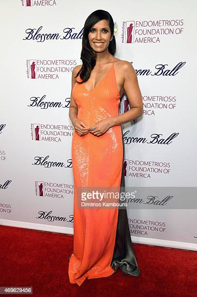Padma Lakshmi attends the 7th Annual Blossom Ball benefiting the Endometriosis Foundation of America hosted by EFA Founders Padma Lakshmi and Tamer...