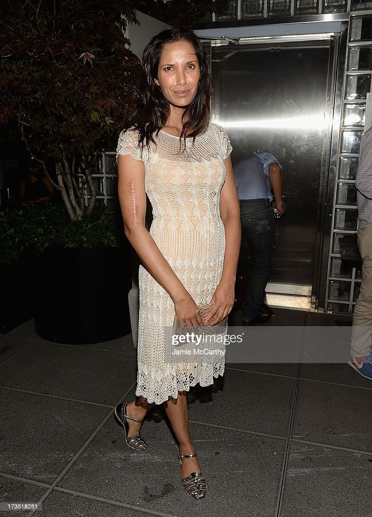 Padma Lakshmi attends The Cinema Society & Brooks Brothers Host A Screening Of Lionsgate And Roadside Attractions' 'Girl Most Likely' After Party at Hotel Americano on July 15, 2013 in New York City.