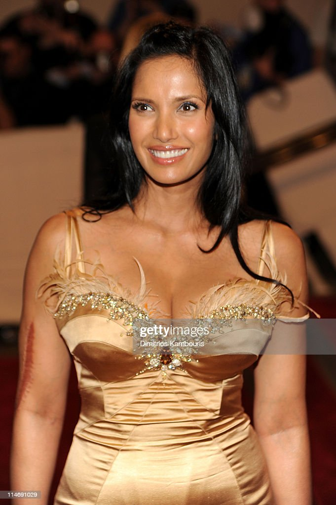 Padma Lakshmi attends the Costume Institute Gala Benefit to celebrate the opening of the 'American Woman: Fashioning a National Identity' exhibition at The Metropolitan Museum of Art on May 3, 2010 in New York City.