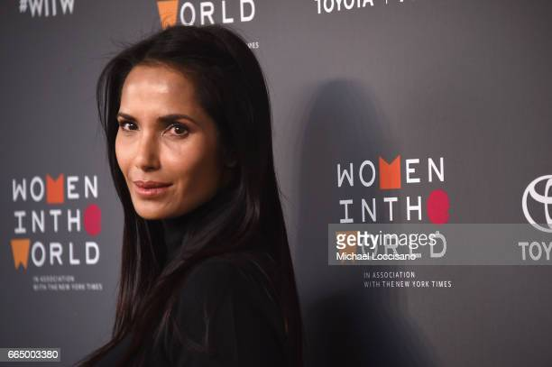 Padma Lakshmi attends the Eighth Annual Women In The World Summit at Lincoln Center for the Performing Arts on April 5 2017 in New York City