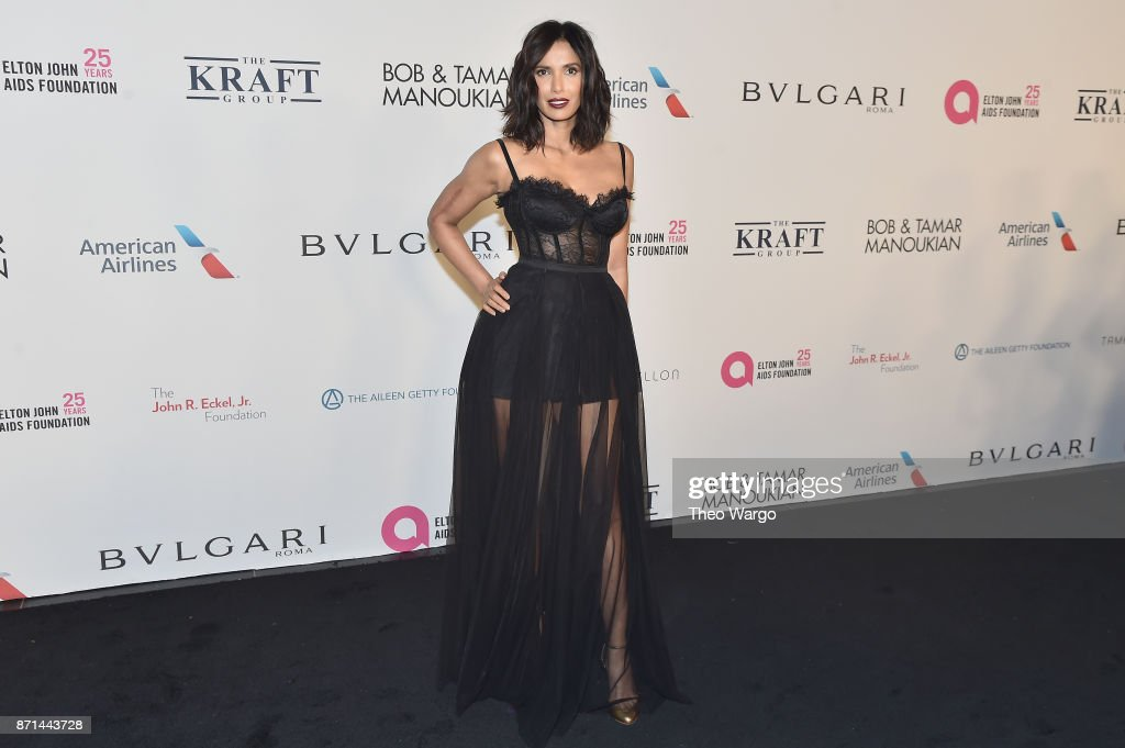 Padma Lakshmi attends the Elton John AIDS Foundation Commemorates Its 25th Year And Honors Founder Sir Elton John During New York Fall Gala at Cathedral of St. John the Divine on November 7, 2017 in New York City.