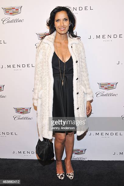 Padma Lakshmi attends the J Mendel fashion show during MercedesBenz Fashion Week Fall 2015 on February 19 2015 in New York City
