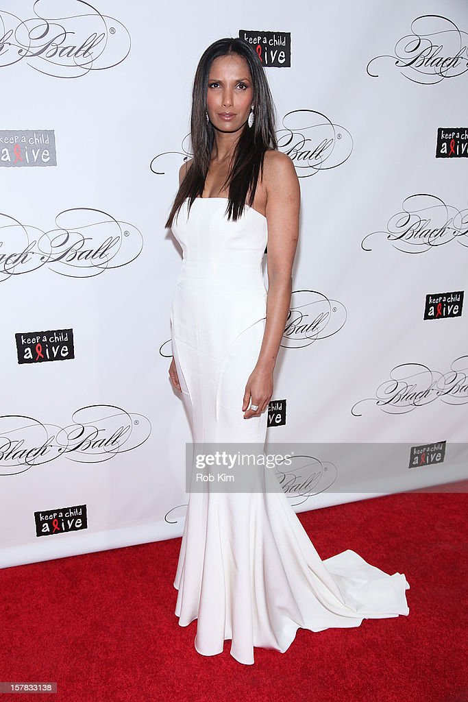 Padma Lakshmi attends the Keep A Child Alive's Black Ball Redux 2012 at The Apollo Theater on December 6, 2012 in New York City.