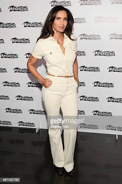 Padma Lakshmi attends the Labyrinth Theater Company's Celebrity Charades Gala 2015 on November 16 2015 in New York City