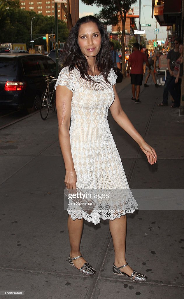 Padma Lakshmi attends the Lionsgate And Roadside Attractions With The Cinema Society Screening Of 'Girl Most Likely' at Landmark's Sunshine Cinema on July 15, 2013 in New York City.