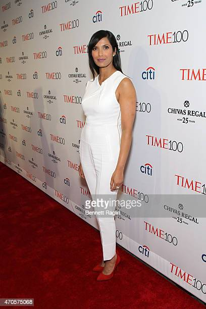 Padma Lakshmi attends the TIME 100 Gala TIME's 100 Most Influential People In The World at Jazz at Lincoln Center on April 21 2015 in New York City