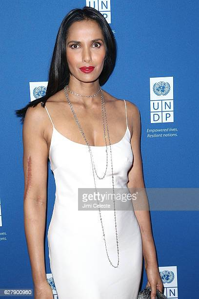 Padma Lakshmi attends the United Nations Development Programme Inaugural Global Goals Gala at Phillips on December 5 2016 in New York City