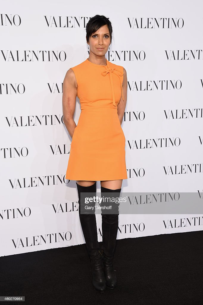 Padma Lakshmi attends the Valentino Sala Bianca 945 Event on December 10, 2014 in New York City.