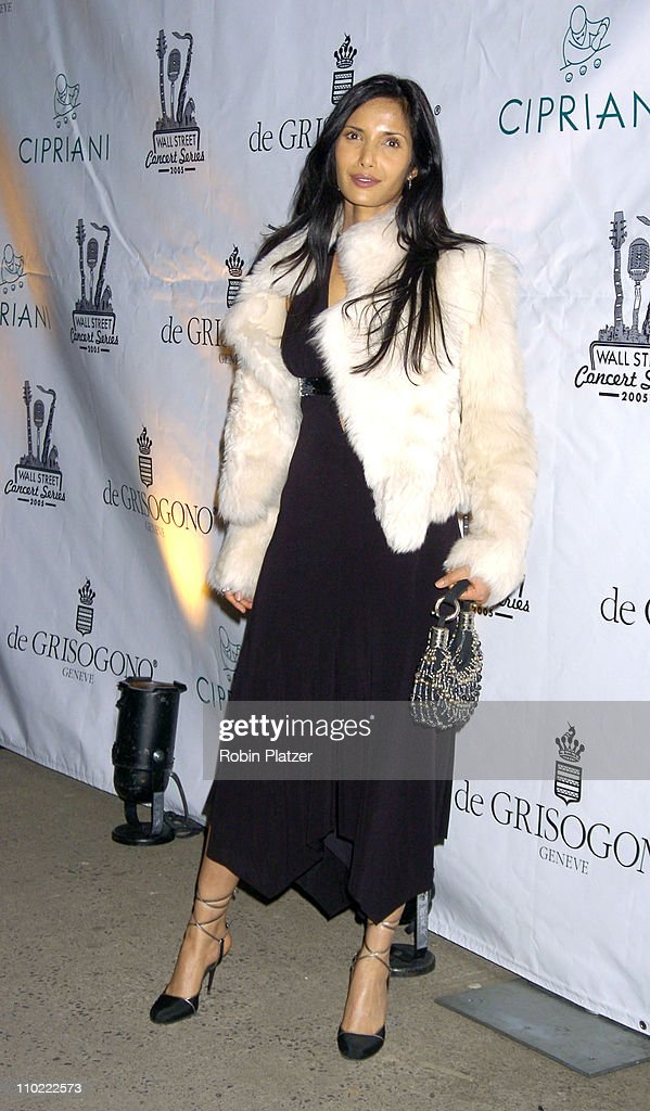 Padma Lakshmi during The 2005 Wall Street Concert Series Benefiting Wall Street Rising Starring Rod Stewart at Ciprianis Wall Street in New York City...