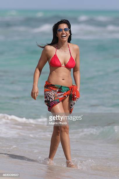 Padma Lakshmi is sighted on February 8 2015 in Miami Florida