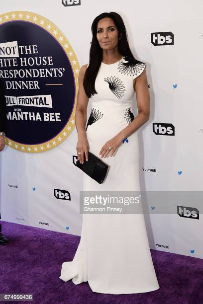 Padma Lakshmi of 'Top Chef' attends the 'Not the White House Correspondents' Dinner' at DAR Constitution Hall on April 29 2017 in Washington DC