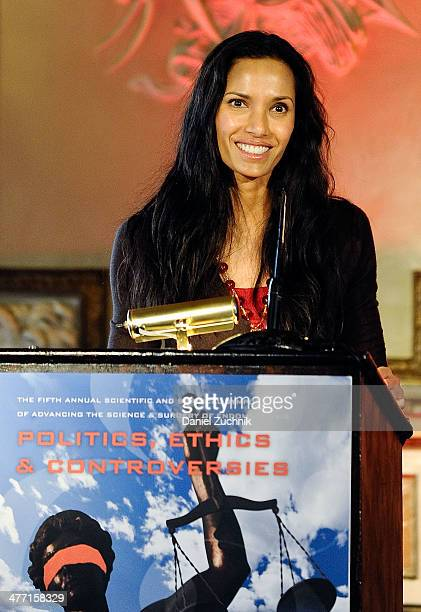 Padma Lakshmi speaks during The Fifth Annual Endometriosis Foundation Of America Medical Congress at The Metropolitan Club on March 7 2014 in New...