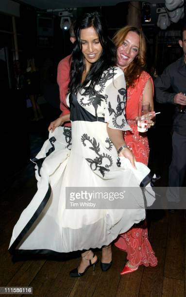 Padma LakshmiRushdie and Alice Temperley during London Fashion Week Spring 2005 Temperley's After Party at Kensington Roof Gardens in London Great...