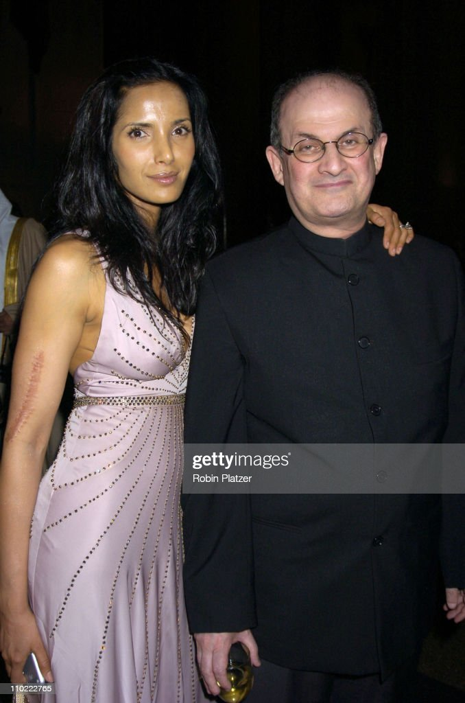 Padma LakshmiRushdie and Salman Rushdie during The 2005 PEN Montblanc Literary Gala at The American Museum of Natural History in New York City New...