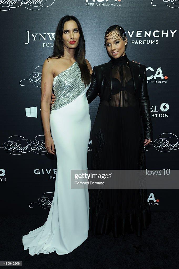 Padma Lashkmi and Alicia Keys attend 'Keep A Child Alive' Black Ball at Hammerstein Ballroom on November 5 2015 in New York City