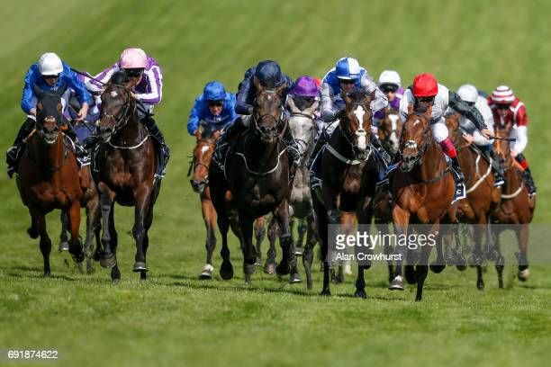 Padraig Beggy riding Wings Of Eagles win The Investec Derby on Investec Derby Day at Epsom Racecourse on June 3 2017 in Epsom England