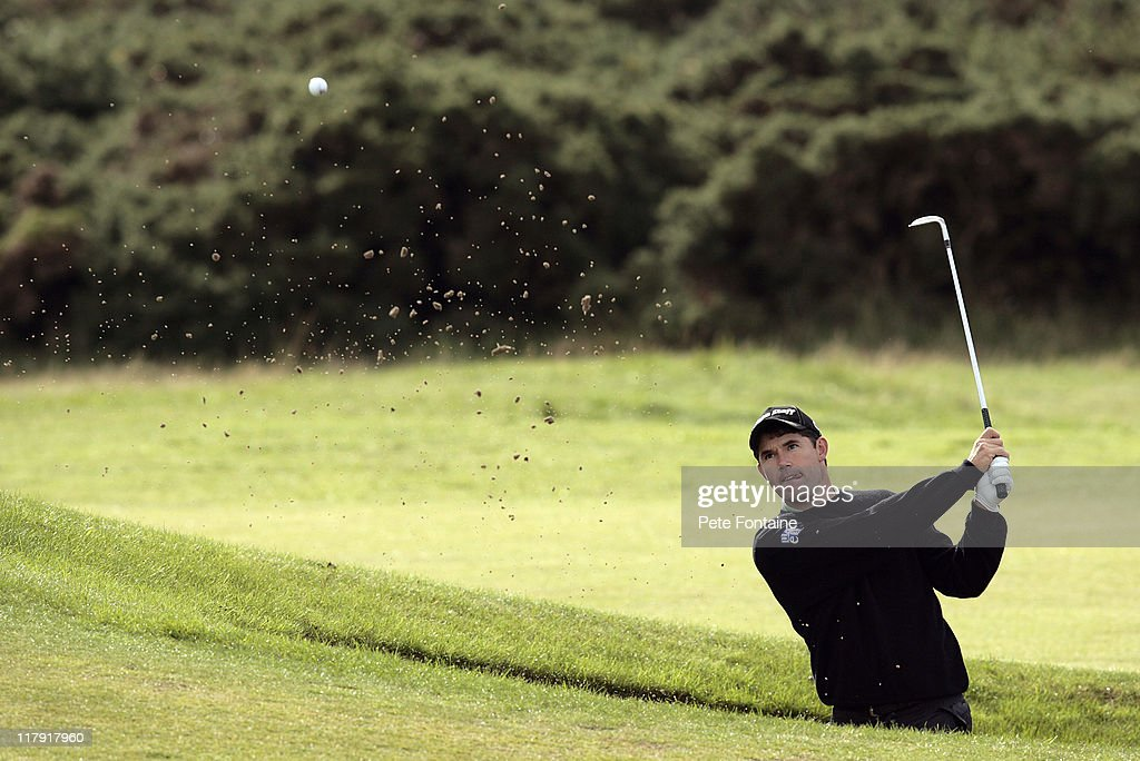 <a gi-track='captionPersonalityLinkClicked' href=/galleries/search?phrase=Padraig+Harrington&family=editorial&specificpeople=175865 ng-click='$event.stopPropagation()'>Padraig Harrington</a> during the second round of the 2006 Alfred Dunhill Links Championship held on the St Andrews Old Course on October 6, 2006