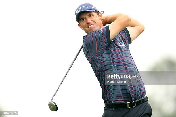 Padraig Harrington of Ireland hits a shot during the second round of the Shell Houston Open at Redstone Golf Club on April 2 2010 in Humble Texas