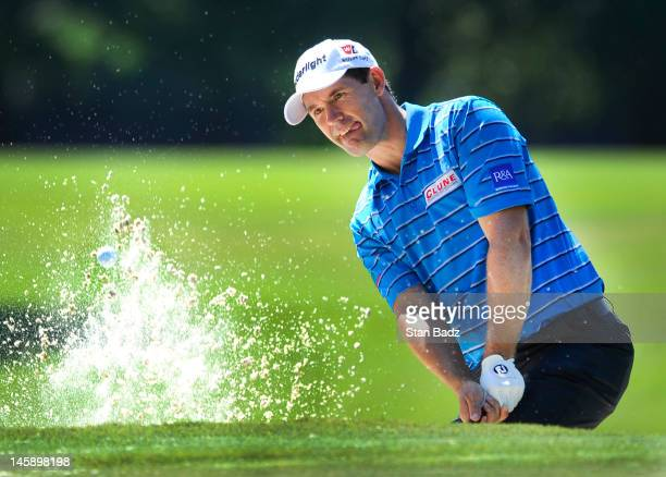 Padraig Harrington of Ireland hits from a bunker on the second hole during the first round of the FedEx St Jude Classic at TPC Southwind on June 7...